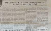 Základní škola v České Vsi reprezentuje české školství ve světě