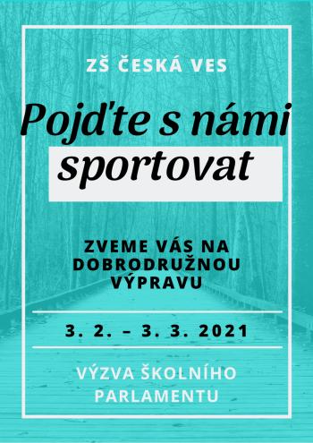 Výzva školního parlamentu - Pojďte s námi sportovat!