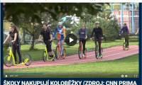 Českoveské koloběžky v hlavních zprávách