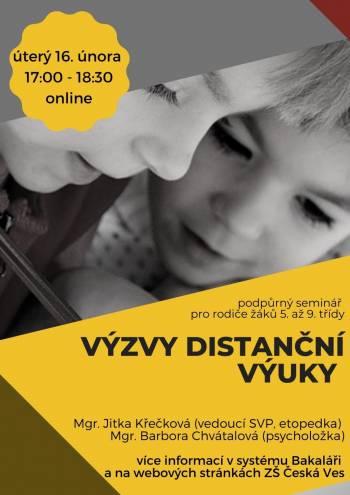 Podpůrný seminář pro rodiče - pozvánka
